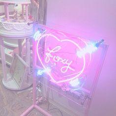 Pink neon light FOXY