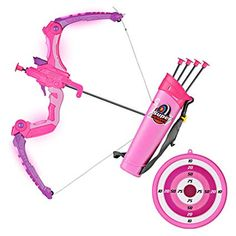 Kids Bow and Arrows, Light Up Archery Set for Kids Outdoor Hunting Game with 5 Durable Suction Cup Arrows, Luminous Bow and Sighting Device,Pink Little Girl Toys, Toys For Girls, Kids Toys, Dango Peluche, Kids Bow And Arrow, Archery Set, Bath Bomb Sets, Unicorn Fashion, Baby Doll Nursery