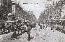 Marseille - Le cours Belsunce (carte postale ancienne)