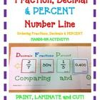Fraction, Decimal  & PERCENT Number Line Ordering Fractions and Decimals  HANDS-ON ACTIVITY!  Use this FUN activity to teach, review, and asses...