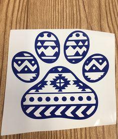 Tribal Pawprint vinyl decal sticker car decal car accessory animal lover laptop sticker water bottle sticker yeti sticker gift idea by TaylorMadeTreasureUS on Etsy Yeti Stickers, Car Stickers, Car Decals, Laptop Stickers, Vinyl Decals, Monogram Decal, Pawprint, Custom Decals, Car Accessories
