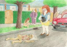 Série de ilustrações critica atrocidades que os seres humanos cometem contra animais 'menos' evoluídos do que eles