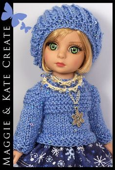 """OOAK Winter Outfit for Tonner Patsy 10"""" Ann Estelle Doll by Maggie & Kate Create"""
