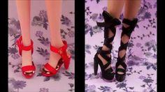 como fazer sapato para bonecas #2: sandálias para Barbie