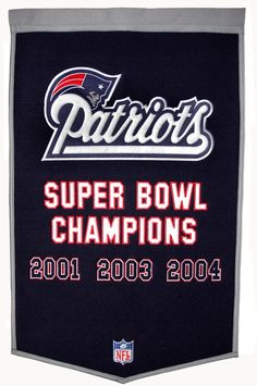 New England Patriots Dynasty Banner | New England Patriots Championship Banner