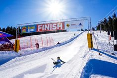 Competitors of all ages waxed up their snow shovels for the Angel Fire World Championship Shovel Races. Angel Fire Ski, Angel Fire Resort, World Cup Skiing, Ski Mountain, Ski Racing, Jefferson City, Fast Times, Travel Channel, World Records