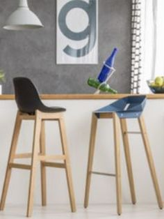 Complete the style and design of your kitchen with the addition of bar stools. Choose styles to match the design and decor of your kitchen or create a design feature and choose a bar stool that stands out and gives that 'wow' factor. #barstools #stools #modernbarstools #fixedheightbarstools #adjustableheightbarstools