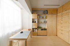 Raanan Stern Artist's Studio with Stealth Storage Space, Remodelista