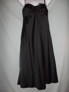 GAP LITTLE BLACK SUNDRESS COTTON SPAGHETTI STRAP SZ SMALL