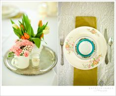 I love this china setting! So pretty and not to matchy matchy...
