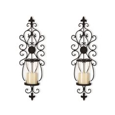 DecentHome Candle Holder Sets, Set of 2 (Fleur De Lis) * To view further for this item, visit the image link. (This is an affiliate link) #CandlesandHolders