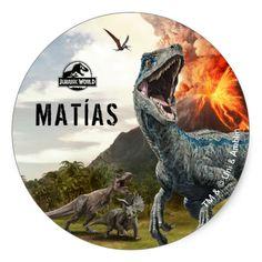 Jurassic World Dinosaur Birthday Thank You Classic Round Sticker , Thank You Stickers, Kids Stickers, Round Stickers, Custom Stickers, Park Birthday, Dinosaur Birthday Party, Boy Birthday, Birthday Ideas, Festa Jurassic Park