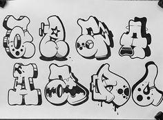 No photo description available. Graffiti Lettering Alphabet, Graffiti Words, Graffiti Tagging, Graffiti Drawing, Graffiti Murals, Graffiti Styles, Cool Lettering, Street Art Graffiti, Graffiti Artists