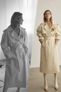 This stylish BITE Studios Organic Cotton Trench Coat is so stylish. Totally a must-have in your wardrobe. Vegan Fashion, Ethical Fashion, Fashion Brands, Classic Trench Coat, Fabric Covered, Summer Collection, Sustainable Fashion, Organic Cotton, Raincoat
