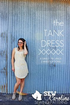 The Tank Dress Pattern by SewCaroline.com