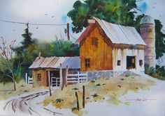 Pennsylvania Farm - Bob Cox says: I studied painting, drawing and architectural rendering at Kansas State University where I obtained my B.A. degree. I subsequently studied privately with a number of noted artists including Tony Couch, Don Andrews, Frank Webb and Robert E. Wood.