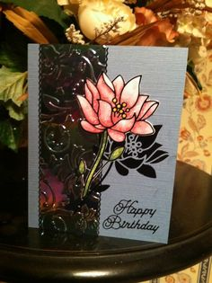 Elizabeth Craft Designs makes up the majority of this card. The ...