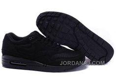 http://www.jordanaj.com/nike-air-max-1-mens-black-running-shoes-latest.html NIKE AIR MAX 1 MENS BLACK RUNNING SHOES LATEST Only $98.00 , Free Shipping!