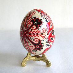 Red and Black designs pysanka Ukrainian by UkrainianEasterEggs