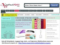 Dailyobjects Sales and discount coupons  http://www.couponskart.net/dailyobjects-coupons