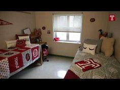 Youtube tour University Dorms, Dorm Life, Dorm Room, Temple, Toddler Bed, College, Kids Rugs, Bedroom, Youtube