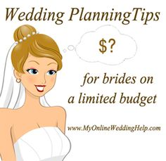 Here are some tips on how to plan a #wedding on a small, or otherwise limiting budget.