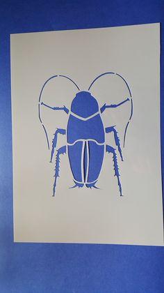 Wandschablonen - 1 Motiv Schablone Käfer Wandbilder Wandtattoos - ein Designerstück von kerstinruckzuck bei DaWanda