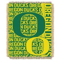 University of Oregon Ducks Bed Throw Blanket Bedding 48 x 60