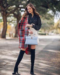 Plaid coat for fall