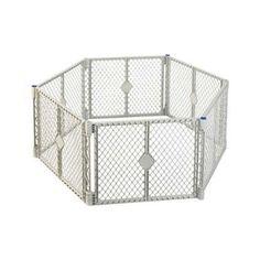 "Pet Dog Cat Indoor Portable Free Standing FencePet Yard XT 6 Interlocking Panels 30"""""""" x 26"""""""""