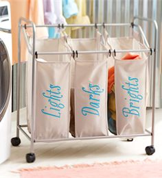 Add style and organization to your laundry room. Paint labels onto a plain clothes hamper. Download our free stencil and follow these easy how-to instructions to make your own.
