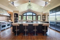 Celebrity homes - Kitchen of actress and former reality-TV star Denise Richards home in Hidden Hills, California.