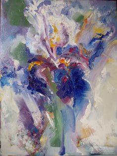 Iris flower- oil on canvas, 50/70 cm, 2017, Derecichei Simona Mihaela