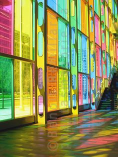 Palais des Congres (Montreal) with 332 colored glass panels...love it!