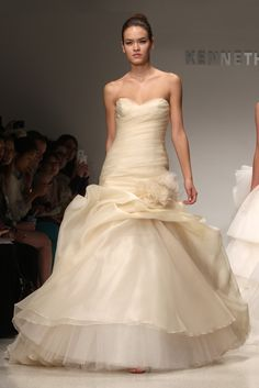 Kenneth Pool bridal gowns, fall 2012. Probably a better fit for the #fall cream than the #winter peach...