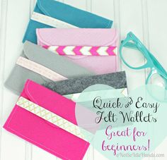Quick As A Flash Felt Wallets ~Great For Beginners