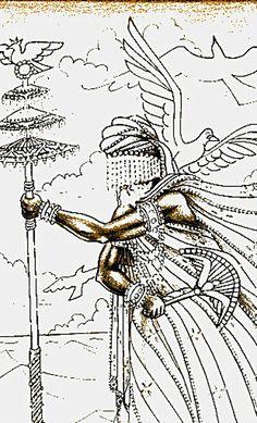 OrixaNlá (Oxalá) ou Obatalá, o mais respeitado Orixá, Pai de todos os Orixás e dos seres humanos.