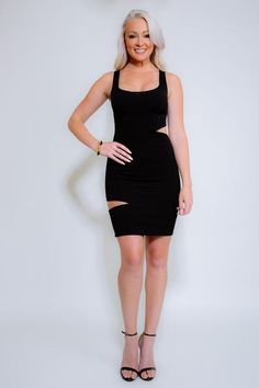 ALISHA BodyCon Black Cut Out Dress