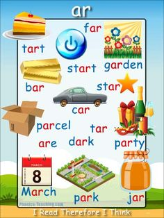ar Phonics Poster - a FREE PRINTABLE poster for auditory discrimination, sound studies, vocabulary and classroom reference.