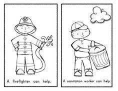 math worksheet : community helpers mini book  community helpers  pinterest  : Community Helpers Worksheet For Kindergarten