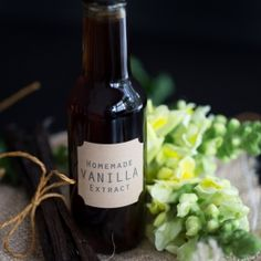Homemade Vanilla Extract. Start now and give it as an edible gift for the holidays!