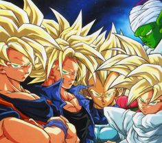 DRAGON BALL Z IS THE ISH!!!: SSJ Goku, Trunks, Vegeta, Gohan and Piccolo.