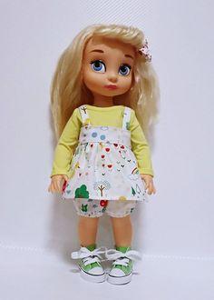 Disney animator 16 doll suspender skirt yellow duck by dollcat Disney Animator Doll, Disney Dolls, Tiana, Aladdin, Pocahontas, Disney Animators Collection Dolls, Cinderella Doll, Suspender Skirt, Harajuku