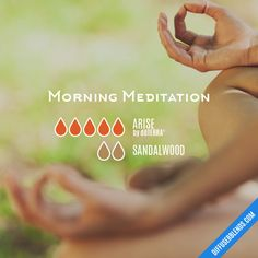 Morning Meditation - Essential Oil Diffuser Blend #Essentialoildiffusers