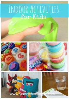 Awesome activities to do with the kiddos on days that are too hot or too cold to be outside.