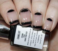 Black French Manicure by Samarium's Swatches, via Flickr