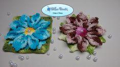 Flor de Crochê Para Aplicação em Tapetes e Diversos Trabalhos