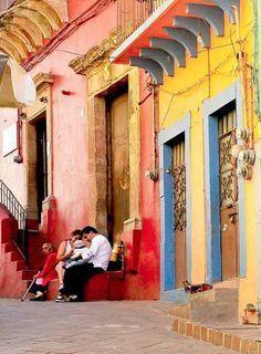 Calles coloridas de Guanajuato.