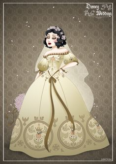 Snow White - Disney Princess wedding designer by wedding snow white SnowWhite - Disney Wedding Princess designer by on DeviantArt Disney Princess Snow White, Snow White Disney, Disney Princess Art, Disney Fan Art, Disney Style, Disney Love, Punk Princess, Disney Disney, Moda Disney