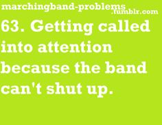 gosh this was so my high school band and guard...